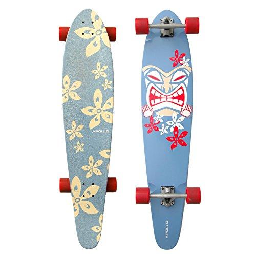 Longboard Moorea Tiki - Kicktail | attualissimo longboard completo 2014 dell'esclusivo marchio di tendenza Apollo | elegante tavola in acero canadese | Lunghezza: 107 cm / 42 inch - Larghezza: 22,8 cm / 9 inch