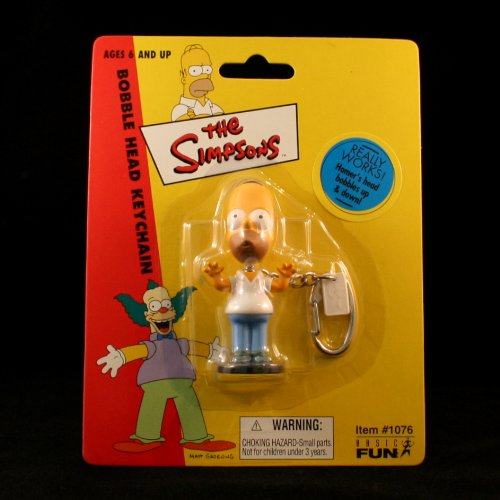 Picture of Basic Fun The Simpsons Mini HOMER SIMPSON Bobble Head Keychain Figure (B003YN46H8) (Basic Fun Action Figures)