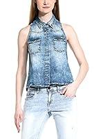 Meltin Pot Camisa Mujer Carissa (Azul Denim)
