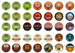 Flavored Coffee Sampler, Single-cup coffee for Keurig Single serve cup Brewers (Pack of 35) from Crazy Cups