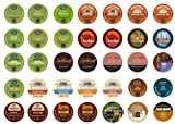 Flavored Coffee Sampler, Single-cup coffee pack sampler for Keurig K-Cup Brewers (Pack of 35)