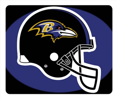 Baltimore Ravens Helmet Logo NFL Sports - Mouse Pad Rectangle Case by acasediy at Amazon.com