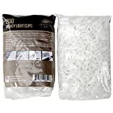 Holiday Joy®- 200 Mighty Clip Lights - Quick & Easy Installation of Christmas Lights on Shingles & Gutters (200 Pack)