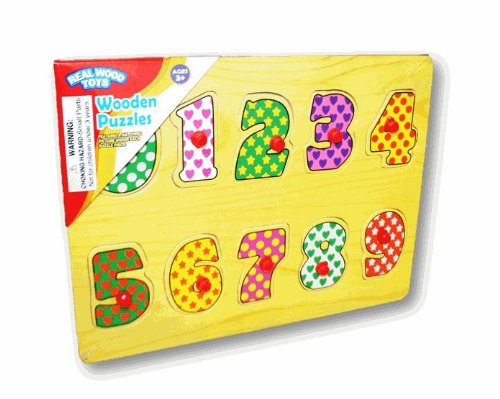 Real Wood Toys - Wooden Pegged Puzzle (Counting) - 1