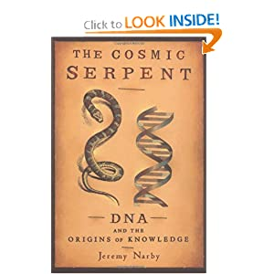 Facsimile of Jeremy Narby's book &quot;The Cosmic Serpent&quot;.