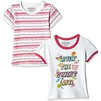 Cherokee Girls' T-Shirt (Pack of 2) (267530086_White_5 - 6 years)