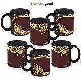 HomeSoGood Cups On The Edge Coffee Mugs White 325 Ml Ceramic (6 Mugs)