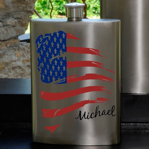 Guys Party Flask American Flag