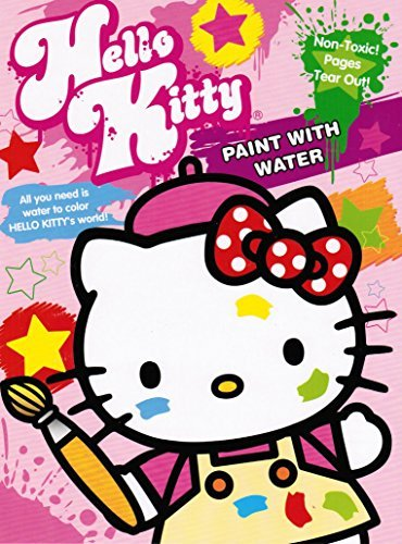 Hello Kitty Paint with Water Book 16 Tear Out Pages