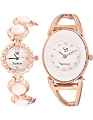 CB Fashion Combo Of Analog Multicolour Dial Women's Watch (RW164)