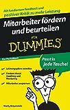 Image de Mitarbeiter fördern und beurteilen für Dummies Das Pocketbuch