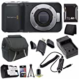 Blackmagic Design Pocket Cinema Camera + 32GB SDHC Card + Battery + External Charger + Small Case + Mini Flexible Tripod + Card Wallet + Card Reader + Saver Bundle