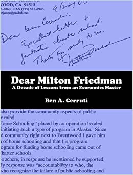 Dear Milton Friedman