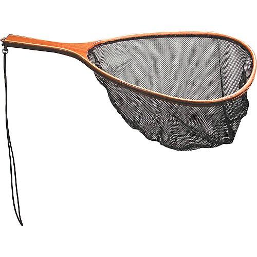 Fishlander nets frabill wood handle mesh netting fish for Wooden fishing net