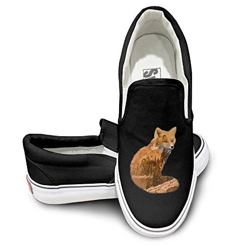 [New Style!! Nature Spirit Series Fox Canvas Shoes Slip On Hot Dance Color Black Size 40] (Boxtroll Shoe Costume)