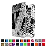 Fintie Folio Case with Auto Sleep/Wake Feature for 6 inch Amazon Kindle Paperwhite - Newspaper