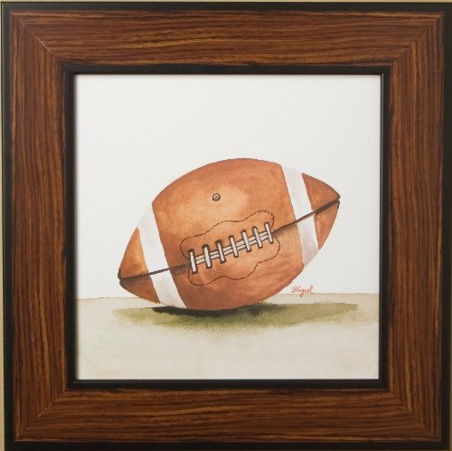 Green Frog Art Mac's Play Ball Series Print Framed, Football