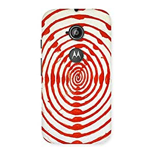 Oval Red Design Back Case Cover for Moto E 2nd Gen