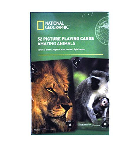 Amazing Animals - National Geographic 52 Picture Playing Cards