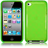 Apple iPod Touch 4th Generation Gel Case - Green PART OF THE QUBITS ACCESSORIES RANGEby TERRAPIN