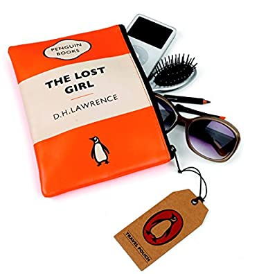 The Lost Girl Orange Penguin Travel Pouch by Wild and Wolf