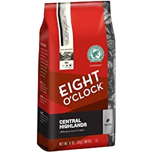 Eight O'Clock Central Highlands Whole Bean Coffee, 11 Ounce