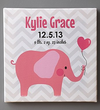 1-800-Flowers - Personalized Baby Canvas For Boy Or Girl - Personalized Baby... front-166170