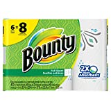 Bounty Paper Towels, Prints, Big Roll, 6 Count