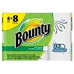 Bounty Paper Towels, Prints, 6 Big Rolls