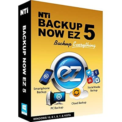 NTI Backup Now EZ 5 (1 PC, unlimited mobile devices). Thanksgiving Sale, 50% OFF! (This week only until Monday 11/28, or while supplies last)
