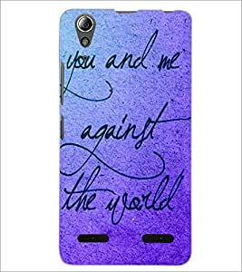 PrintDhaba Quote D-3470 Back Case Cover for LENOVO A6000 (Multi-Coloured)