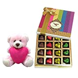 Beautiful Chocolate Treat With Teddy - Chocholik Belgium Chocolates