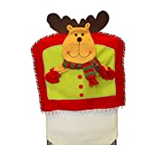 AMA(TM) Christmas Chair Covers Xmas Santa Hat Cap Dining Room Dinner Chair Decor Party Gift Red (B)