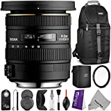 Sigma 10-20mm f 3.5 EX DC HSM ELD SLD Wide-Angle Lens for CANON DSLR Cameras w Essential Photo and Travel Bundle