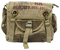 Army Courier Vintage Canvas Messenger Bag Military