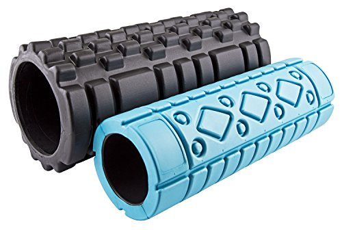 fit-spirit-set-of-2-textured-high-density-exercise-sports-fitness-foam-rollers