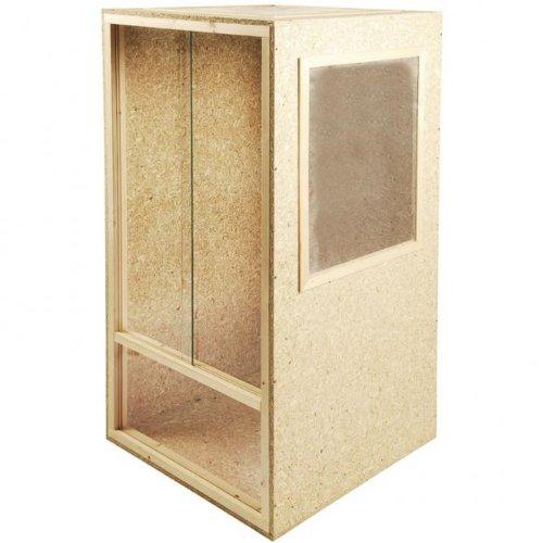 holz terrarium holzterrarium hochterrarium 80x150x80cm deckenbel ftung seitenbel ftung cham leon. Black Bedroom Furniture Sets. Home Design Ideas
