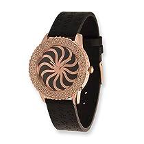 Moog Fashionista Vertigo Black Dial/Black Leather Watch