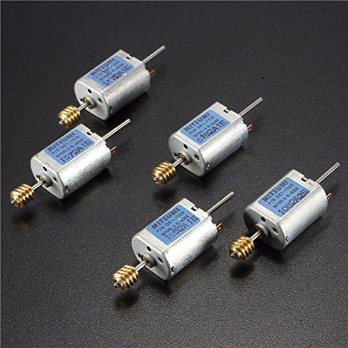 5pcs 12-24V 13500RPM 1.5mm Dia Shaft Magnetic Electric Motor Mini DC Worm Motor
