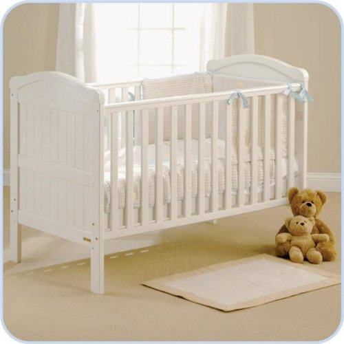 East Coast Country Cot Bed White with Foam mattress