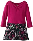 Tea Collection Baby-Girls Newborn Long Sleeve Diagonal Ruffle Dress