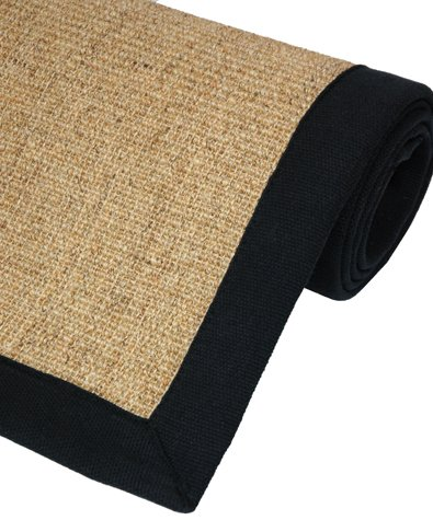 Large Size Low Cost Price Carpets - Natural Sisal Area Rug w/ Cotton Edge & Latex Backing - 5ft. x 8ft.