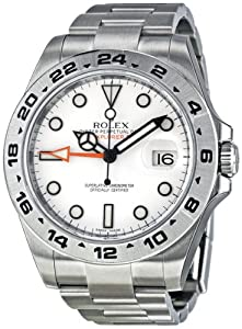 Rolex Explorer II White Automatic Stainless Steel Mens Watch216570WSO