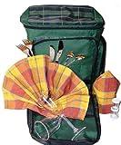 Picknickrucksack für 2 Personen im englischen Stil, Kühlrucksack mit hochwertiger Ausstattung
