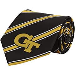 Buy Georgia Tech Yellow Jackets Striped Mens Neck Tie with NCAA College Sports by Eagles Wings