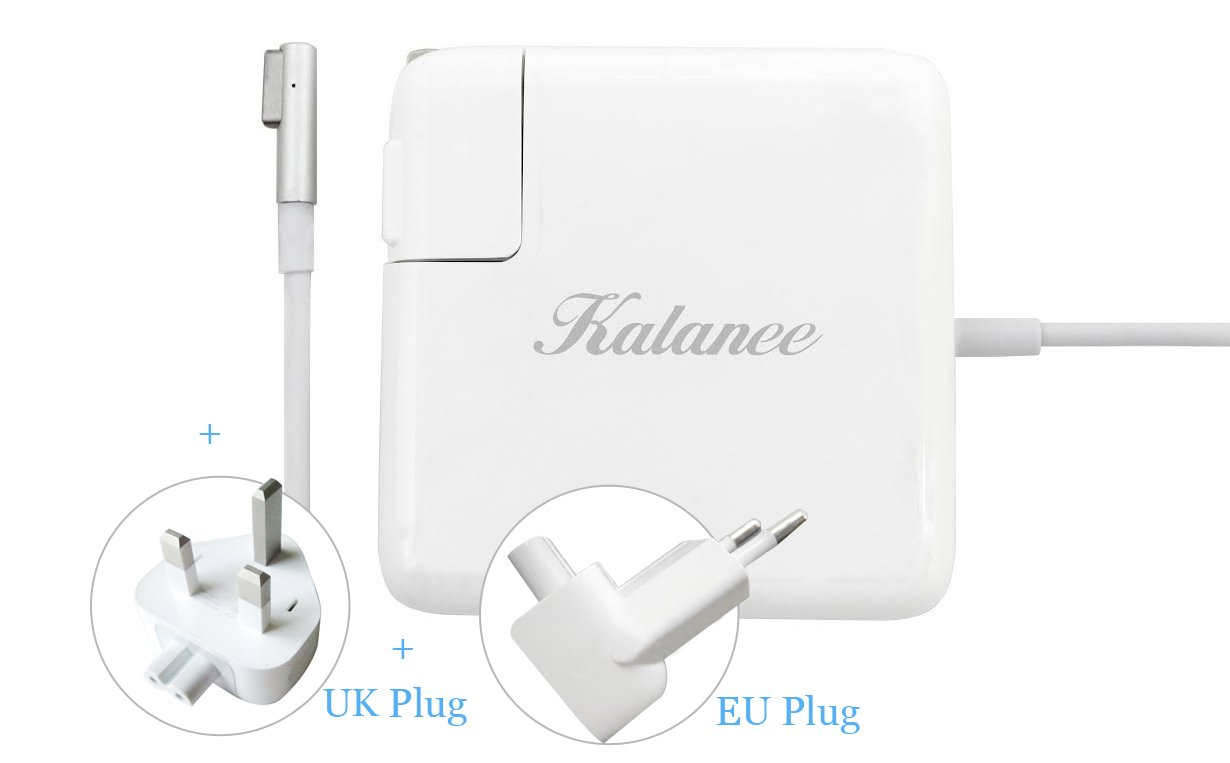 KALANEE® 85W Magsafe Power Adapter - AC Power Adapter Charger for Apple Macbook Pro 15'' 17'' - Portable Power Supply L-tip (L-Tip 85W)