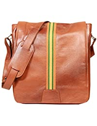 Raicon 12 Inch Tan Laptop Office Briefcase Messenger Cross Body Portfolio Bags For Men & Women (Guaranteed Genuine...