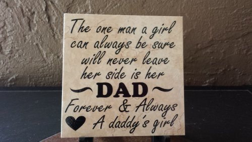 daddys girl personalized decorative ceramic tile perfect fathers day gift - Decorative Ceramic Tile
