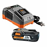 Ridgid R840086 18-Volt 2.0 Ah Lithium-Ion Battery and R86092 18-Volt Charger