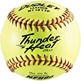 Dudley NFHS Thunder Heat Leather 12-Inch Yellow Fast Pitch Softball, .47/375-Pounds, Red Stitch(Pack Of 12), 12...